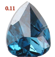 Natural Loose Diamond Pear Blue Color I2 Clarity 3.10 MM 0.11 Ct KR148