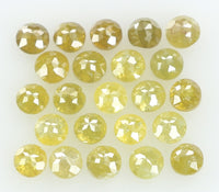 Natural Loose Diamond Round Rose Cut Yellow Color I3 Clarity 23 Pcs 1.30 Ct L4414