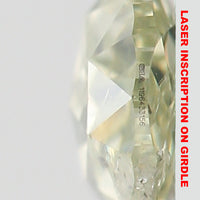 GIA CERTIFIED Natural Loose Diamond Pear Light Green Yellow Color I1 Clarity 6.63 MM 0.32 Ct L4429