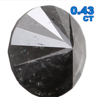 Natural Loose Diamond Round Black Grey Color I3 Clarity 4.75 MM 0.43 Ct L5995