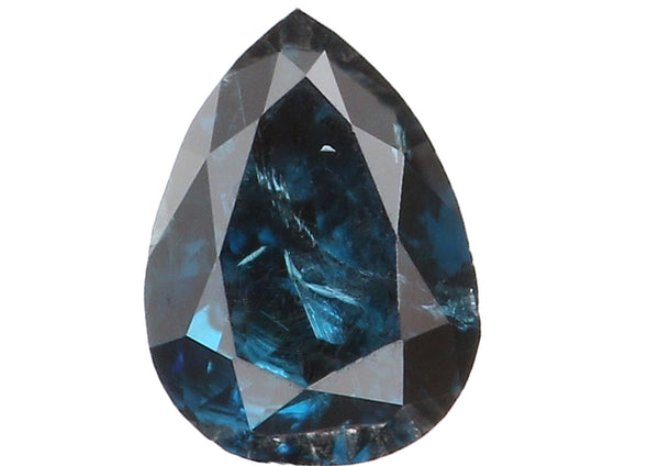 Natural Loose Diamond Pear Blue Color I2 Clarity 3.90 MM 0.15 Ct KR1080