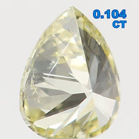 Natural Loose Diamond Pear Yellow Color SI1 Clarity 3.40 MM 0.104 Ct L5446