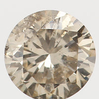 Natural Loose Diamond Round Brown Color I1 Clarity 3.40 MM 0.15 Ct L5454