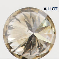Natural Loose Diamond Round Brown Color I1 Clarity 3.10 MM 0.11 Ct L5456