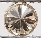 Natural Loose Diamond Round Brown Color SI1 Clarity 2.80 MM 0.09 Ct KR828