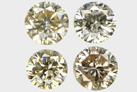 Natural Loose Diamond Round Brown Color SI1 Clarity 4 Pcs 0.15 Ct L6071