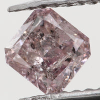 Natural Loose Diamond Cushion Pink Color I3 Clarity 3.83 MM 0.32 Ct KR1047