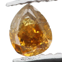 Natural Loose Diamond Pear Brown Color I1 Clarity 4.10 MM 0.24 Ct KR1045