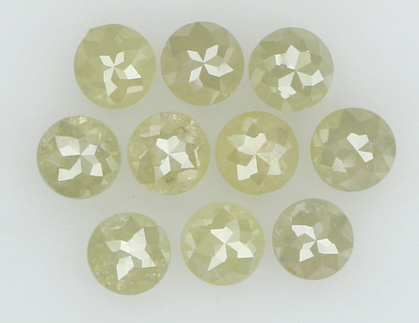 Natural Loose Diamond Round Rose Cut Grey Color I3 Clarity 10 Pcs 1.24 Ct KR1028