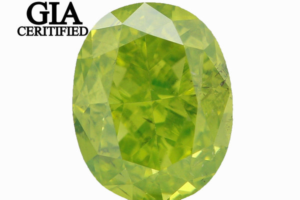 GIA CERTIFIED Natural Loose Diamond Oval Green Color SI1 Clarity 0.77 Ct L4056 BKK