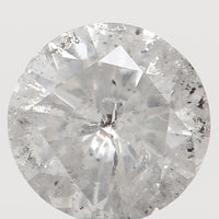 Natural Loose Diamond Round Grey White Color I2 Clarity 4.20 MM 0.28 Ct KR1071