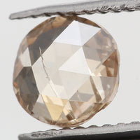 Natural Loose Diamond Round Rose Cut Brown Color SI2 Clarity 5.20 MM 0.60 Ct KR1065