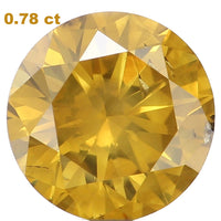 Natural Loose Diamond Round Fancy Color SI2 Clarity 5.85 MM 0.78 Ct L6113