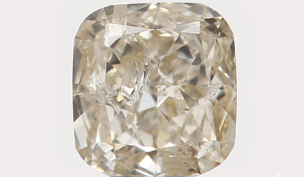 Natural Loose Diamond Cushion Yellow Grey Color I1 Clarity 3.60 MM 0.21 Ct KR858