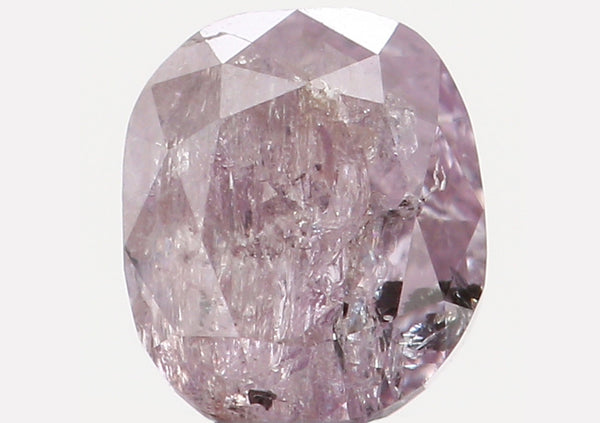 Natural Loose Diamond Oval Pink Color I2 Clarity 3.90 MM 0.33 Ct L6086