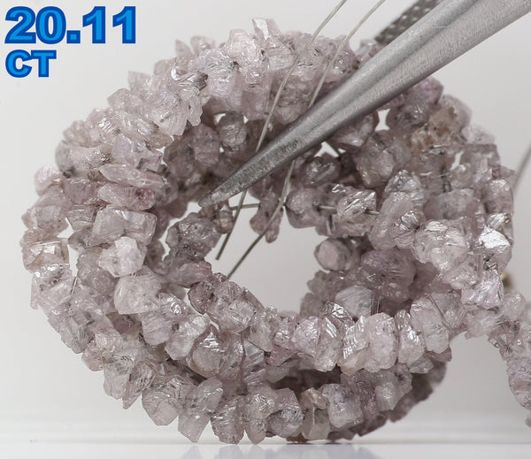 Natural Loose Diamond Rough Bead Brown Pink Color I3 Clarity 20.11 Ct L6130