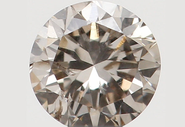 Natural Loose Diamond Round Brown Color SI2 Clarity 3.10 MM 0.124 Ct KR1297