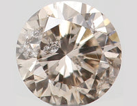 Natural Loose Diamond Round Brown Color I1 Clarity 3.40 MM 0.16 Ct KR1010