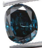 Natural Loose Diamond Oval Blue Color SI2 Clarity 4.34 MM 0.30 Ct L6270