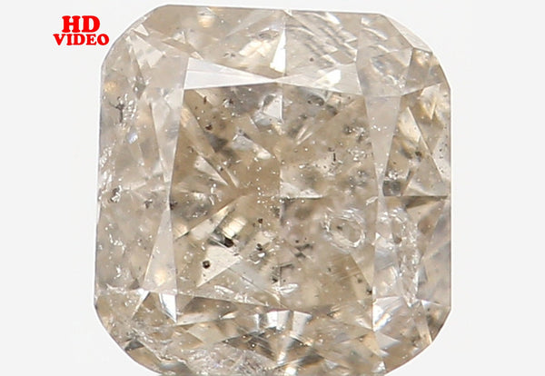 Natural Loose Diamond Cushion Yellow Grey Color I2 Clarity 4.40 MM 0.54 Ct L5947