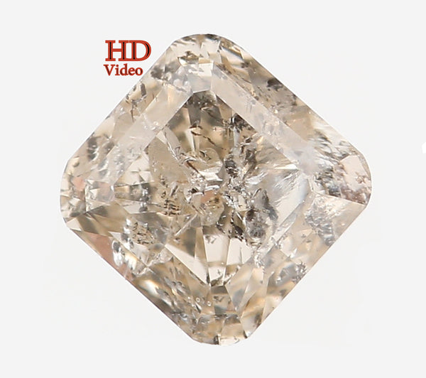 Natural Loose Diamond Radiant Yellow Grey Color SI2 Clarity 4.50 MM 0.50 Ct KR113