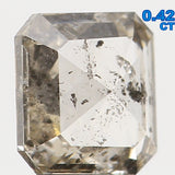 Natural Loose Diamond Radiant Brown Color SI2 Clarity 4.50 MM 0.42 Ct L5960