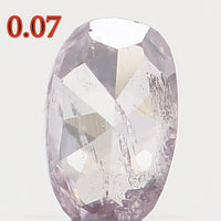 Natural Loose Diamond Oval Light Pink Color I1 Clarity 3.16 MM 0.07 Ct KR128