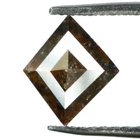 Natural Loose Diamond Kite Brown Grey Color I1 Clarity 6.60 MM 0.66 Ct L4362