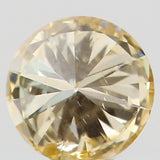 Natural Loose Diamond Round Yellow Color SI1 Clarity 3.20 MM 0.12 Ct KR169