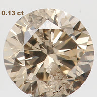 Natural Loose Diamond Round Brown Color SI2 Clarity 3.30 MM 0.13 Ct L5991