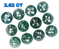 Natural Loose Diamond Round Rose Cut Blue Color I3 Clarity 12 Pcs 2.62 Ct L5057