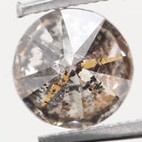 Natural Loose Diamond Round Black Grey Salt And Pepper Color I2 Clarity 4.30 MM 0.33 Ct L5064