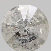 Natural Loose Diamond Round Grey Black Color I2 Clarity 4.00 MM 0.24 Ct L6065