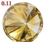 Natural Loose Diamond Round Greenish Yellow Color SI1 Clarity 2.90 MM 0.11 Ct KR651