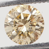 Natural Loose Diamond Round Orange Color SI2 Clarity 3.10MM 0.12 Ct KR653