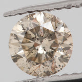 Natural Loose Diamond Round Grey Color I2 Clarity 4.40 MM 0.33 Ct KR1068