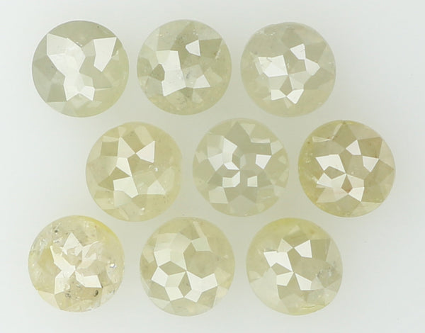 Natural Loose Diamond Round Rose Cut Grey Color I3 Clarity 9 Pcs 1.19 Ct L5101