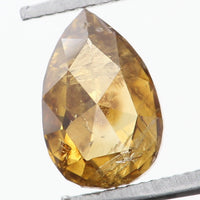 Natural Loose Diamond Pear Coffee Color SI2 Clarity 5.40 MM 0.39 Ct L6095