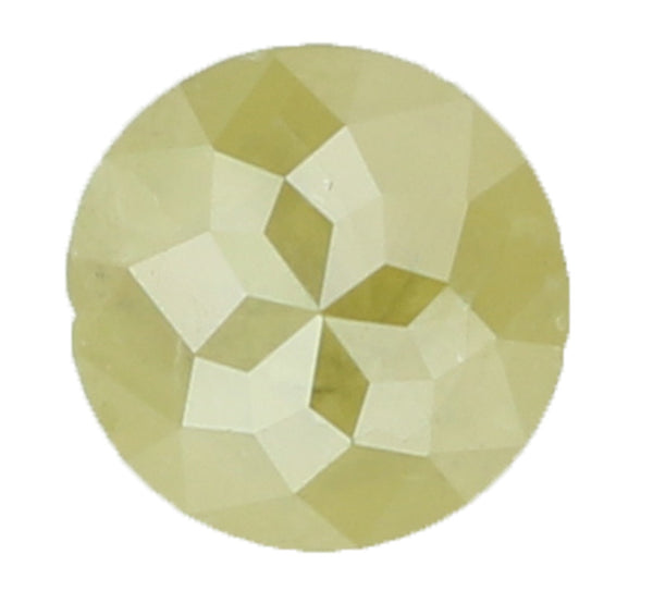 Natural Loose Diamond Round Rose Cut Yellow Green Color I3 Clarity 4.40 MM 0.55 Ct KR1094