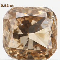 Natural Loose Diamond Cushion Brown Color SI2 Clarity 4.60 MM 0.52 Ct L6087