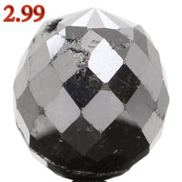 Natural Loose Diamond Drop Black Color I3 Clarity 7.50 MM 2.99 Ct KR1191
