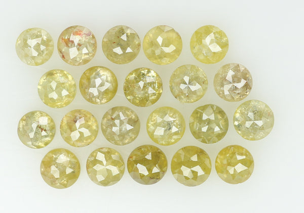Natural Loose Diamond Round Rose Cut Green Color I2 Clarity 21 Pcs 3.02 Ct KR714