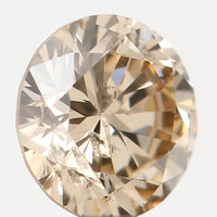 Natural Loose Diamond Round Brown Color SI2 Clarity 3.80 MM 0.209 Ct KR1234