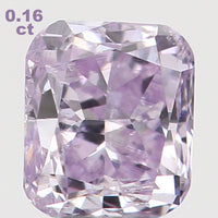 Natural Loose Diamond Cushion Pink Color SI2 Clarity 3.10 MM 0.16 Ct L5336
