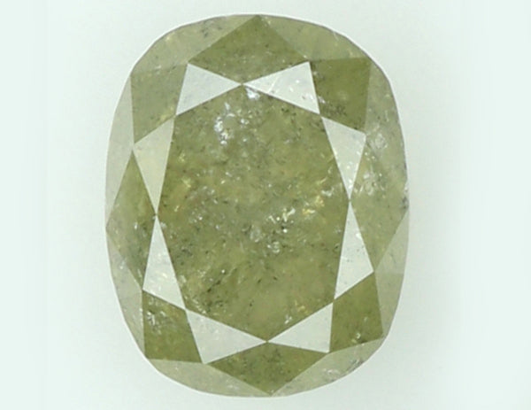 Natural Loose Diamond Oval Yellow Gray Color I3 Clarity 6.40 MM 1.16 Ct KR761