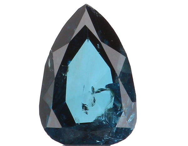 Natural Loose Diamond Pear Blue Color I1 Clarity 4.66 MM 0.21 Ct KR1314