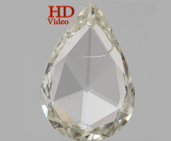 0.85 Ct Natural Loose Diamond Pear J Color I1 Clarity 9.25 MM L5487