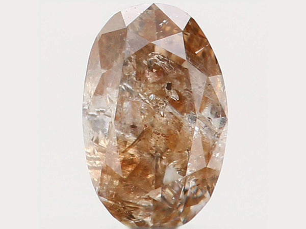 Natural Loose Diamond Oval Brown Color I2 Clarity 3.90 MM 0.13 Ct L5512