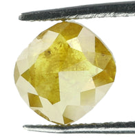 Natural Loose Diamond Cushion Yellow Coffee Color I3 Clarity 5.30 MM 0.55 Ct KR1391