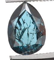 Natural Loose Diamond Pear Blue Color I2 Clarity 5.30 MM 0.31 Ct KR626